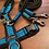 Thumbnail: Dogfellow Brustgeschirr Easy, Farbe: schwarz-petrol