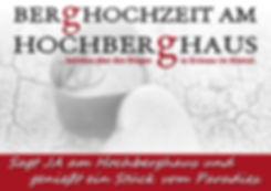 Poltern Hochzeit Hochberghaus Grünau Almtal