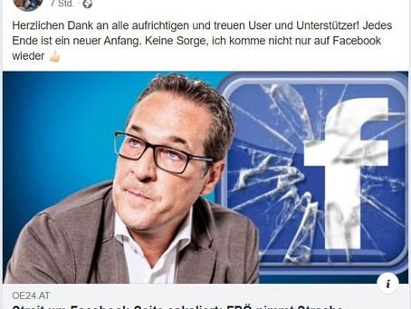 Facebook-Seite weg – Strache wieder da?