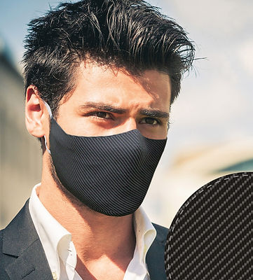 Washable Face Mask: Carbon Fiber
