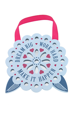 Reflective Words Flower: Dream big, work hard, make it happen