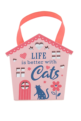 Reflective Words House: Like is better with cats