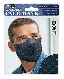 Washable Face Mask: Dark Diamond