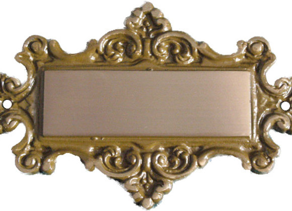 Brass Nameplate - R