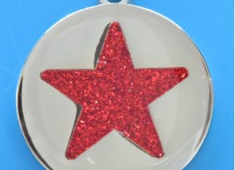 Glitter Star Dog Tag - Suitable for Medium and Large Dogs