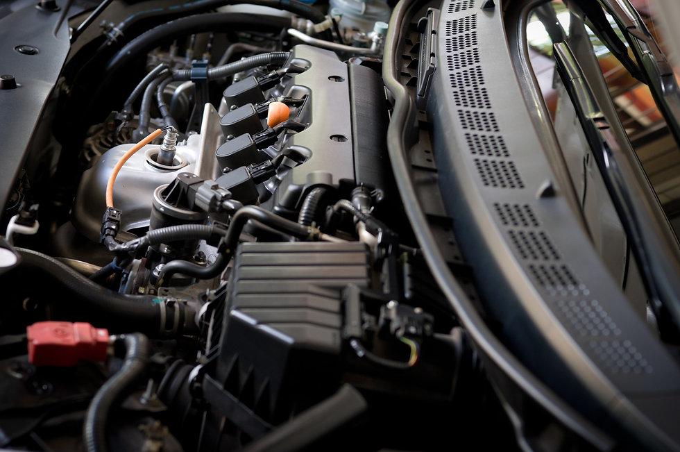 engine of a modern car