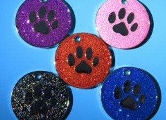 Glittery Dog Tags