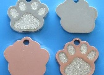 Small Dog/Cat Tag -  Glitter Paw