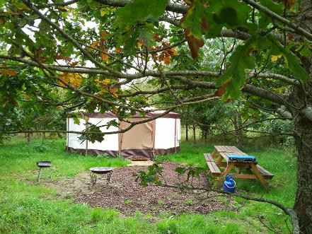 Yurt accommodation located in the Somerset countryside