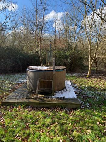 Glamping hot tub at Dorothy Goes Glamping