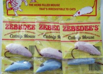 Zebedee Catnip Mice - pack of 12