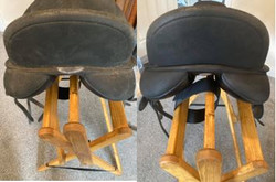 before and after of horse riding equipme