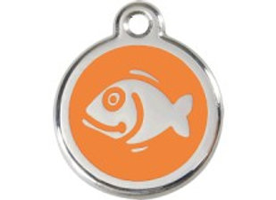 Orange Fish Tag