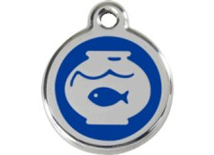 Blue Fish in Bowl Tag