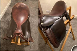 before and after of red horse saddle