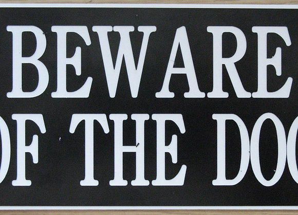 'Beware of the Dog' Signage