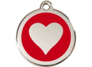 Red Heart Tag