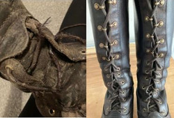 before and after of black horse riding b