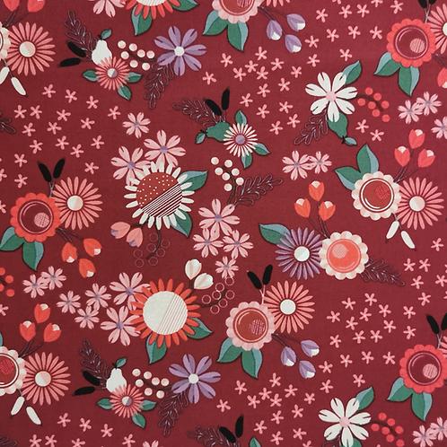 Rosewood Burgundy Flowers FQ