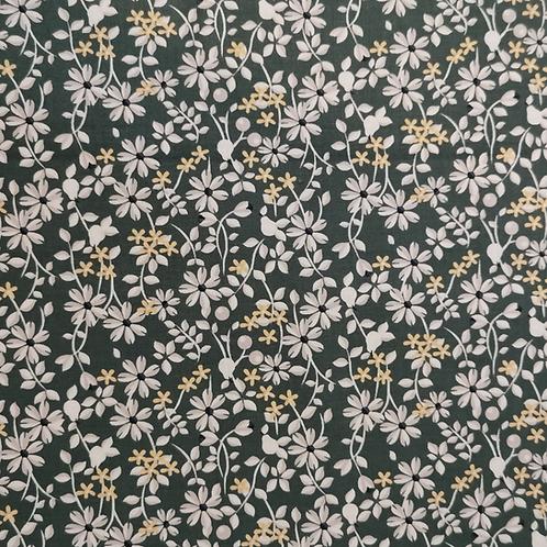 Rosewood Green Ditsy Flowers Half Metre