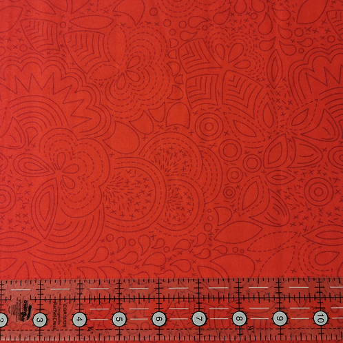 Alison Glass Sunprint 2020 Stitched Poppy END OF BOLT