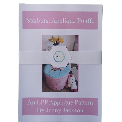 The Starburst Applique Pouffe Paper Pattern ONLY