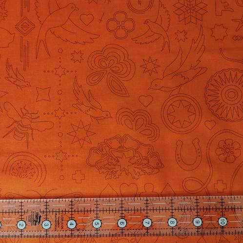 Alison Glass Sunprint 2020 Embroidery Pumpkin