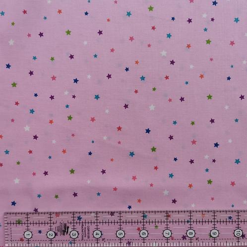 Makower Day Dream Multi Star Pink