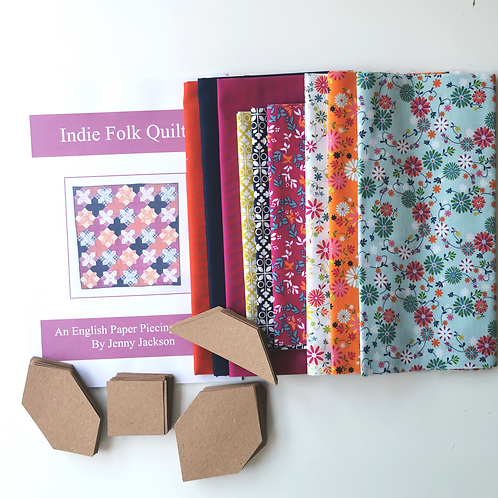 Indie Folk EPP Quilt Kit Springtime Colourway
