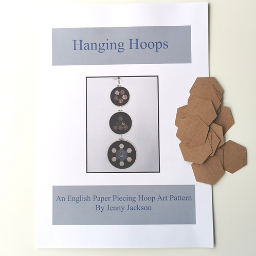 Hanging Hoops Paper Pattern and Paper Pieces