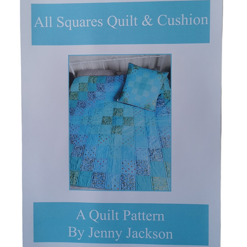All Squares Quilt and Cushion PDF