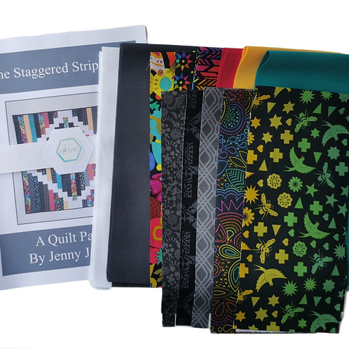 The Staggered Strip Quilt Art Theory Kit - Grey