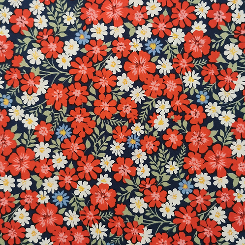 Strawberry Jam Navy Floral FQ