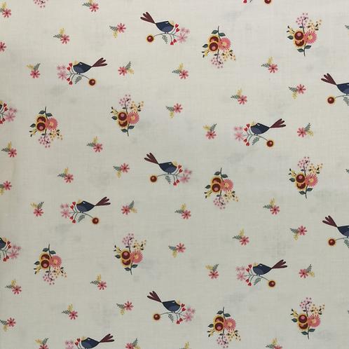Rosewood Cream Bird FQ