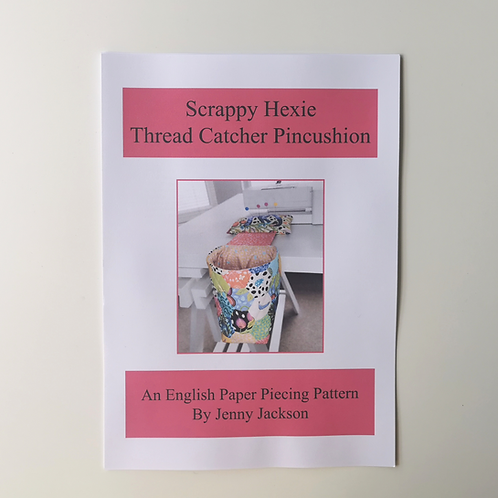Scrappy Hexie Thread Catcher Pincushion Paper Pattern ONLY