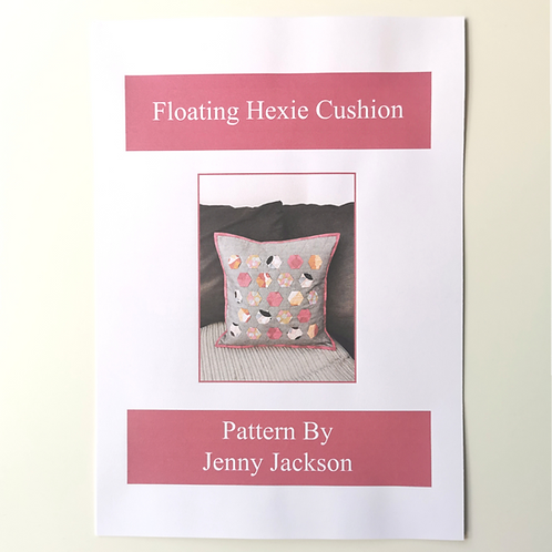 Floating Hexie Cushion Paper Pattern ONLY