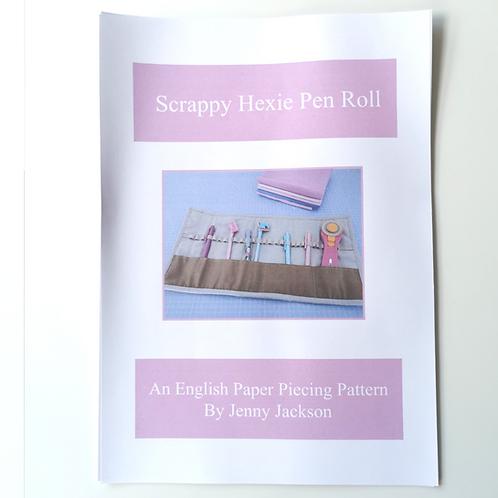 Scrappy Hexie Pen Roll Paper Pattern ONLY