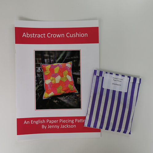 Abstract Crown Epp Cushion Paper Pattern & Paper Pieces