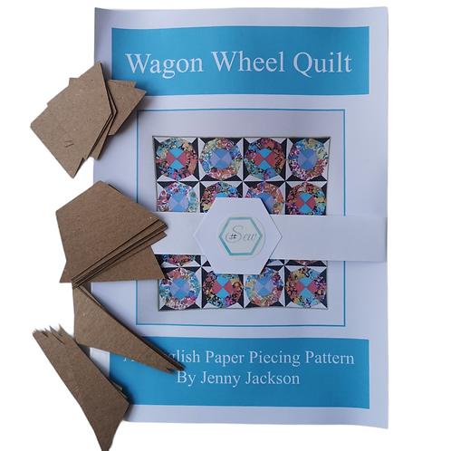 Wagon Wheel Epp Quilt, Paper Pattern & 108 Paper Pieces