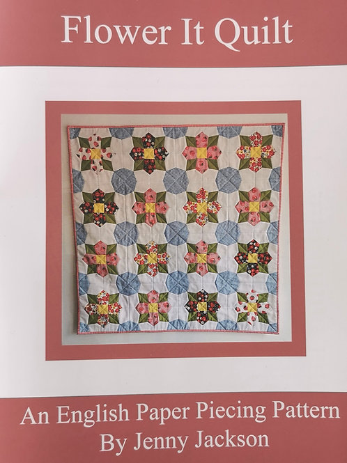 Flower It English Paper Piecing PDF Downloadable pattern only