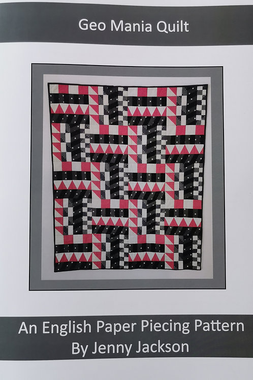 Geo Mania English Paper piecing PDF downloadable pattern only