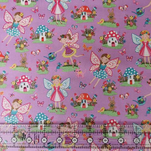 Makower Day Dream Fairies Lilac