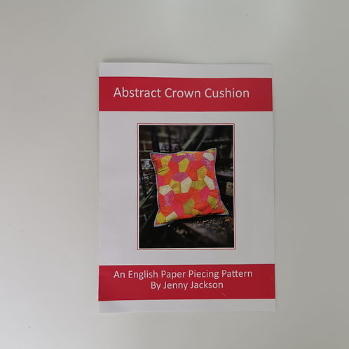 Abstract Crown Epp Cushion Paper Pattern ONLY