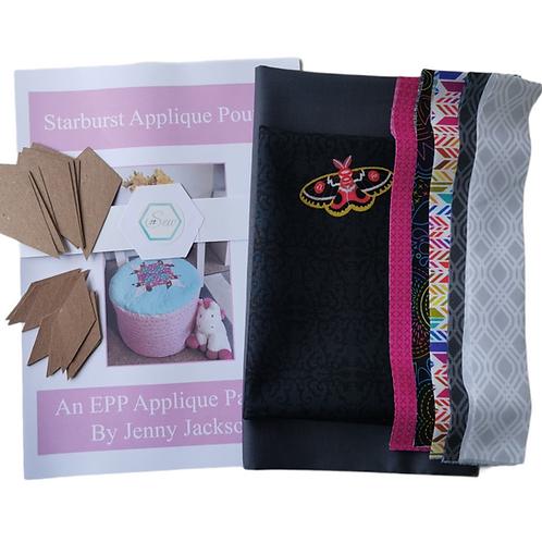 The Starburst Applique Pouffe Kit - Art Theory Grey