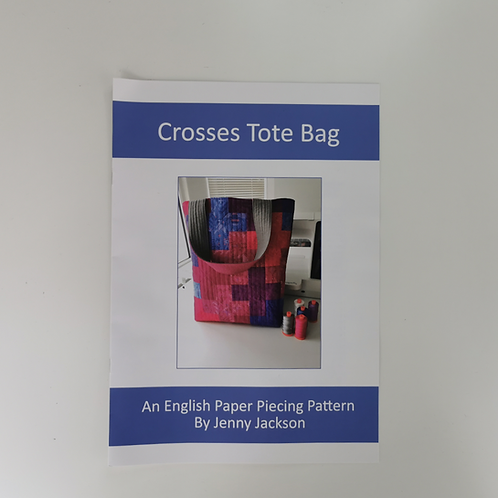 Crosses Tote Bag Paper Pattern ONLY