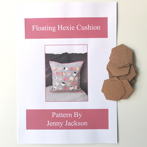 Floating Hexie Cushion Paper Pattern and Paper Pieces