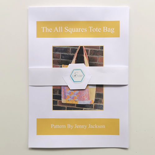 The All Squares Tote Bag Paper Pattern