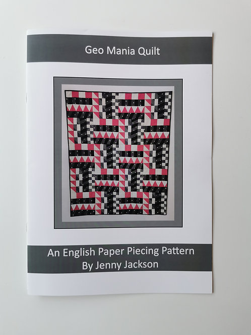 Geo Mania English Paper piecing PAPER pattern only