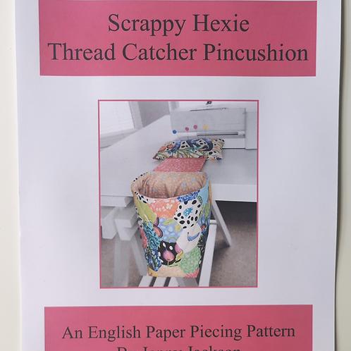 Scrappy Hexie Thread Catcher Pincushion PDF Download