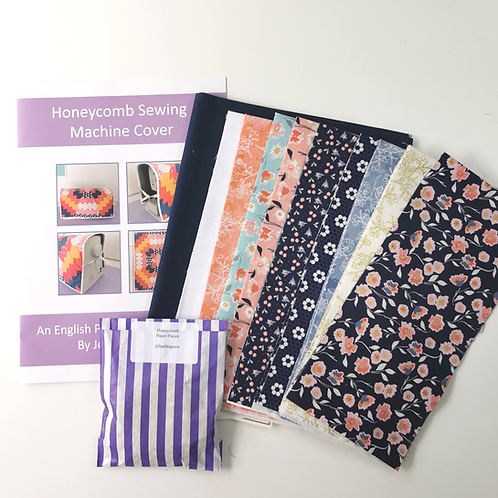 Honeycomb Sewing Machine Cover Kit - Midnight Rose